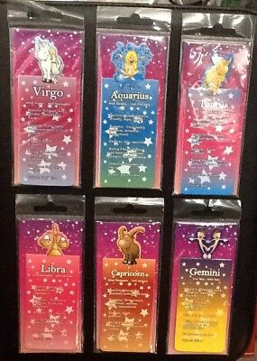 Star Zodiac Signs Magnetic BOOKMARKS Horoscopes Capricorn Virgo Scorpio Taurus