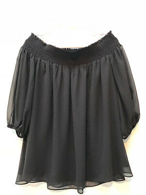 c894292adf2d2c NWT ANN TAYLOR LOFT Velvet Trim Off Shoulder Top  59 NEW Black ...