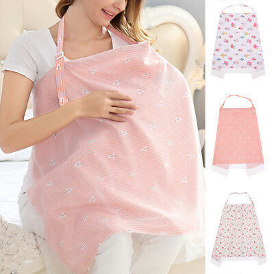 Mum Breastfeeding Nursing Cover Up Baby Infant Breathable Shawl Cotton Blanket