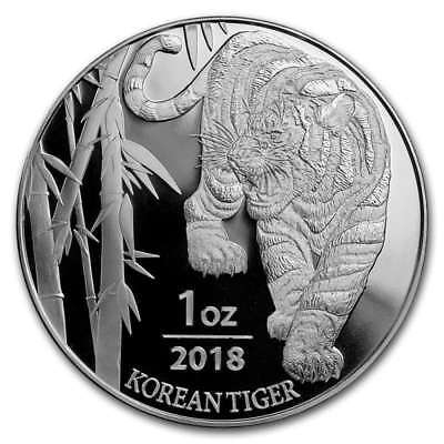 2018 1 oz South Korea Silver Tiger BU KOMSCO (In Mint Capsule)