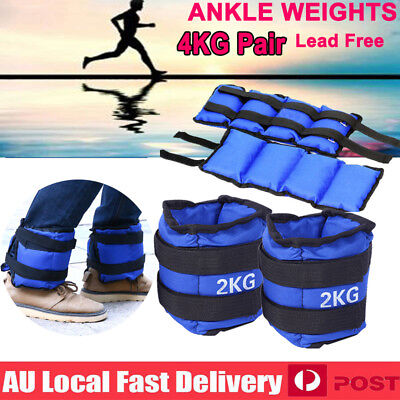 4KG 2x2kg Ankle Weights Sport GYM Weight Fitness Running Training Leg Sandbag