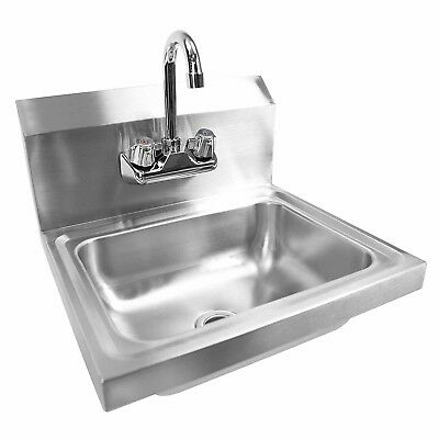 Gridmann Commercial NSF Stainless Steel Sink - Wall Mount Hand Washing Basin wit