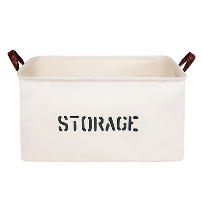 Canvas Storage Baskets Bins Nursery Sundries Toys Stationery Box Container Home