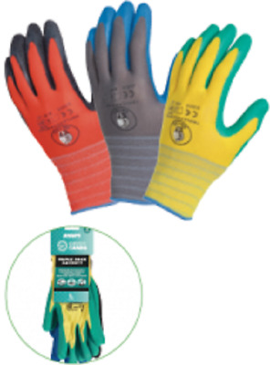 RHINO Green Hands Triple Pack Saver Glove Medium RHG35M