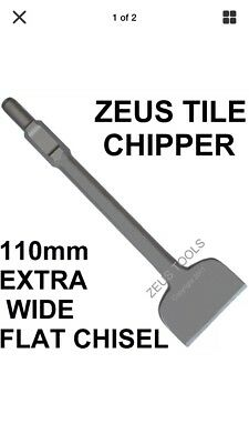 110mm EXTRA WIDE TILE CHIPPING JACK HAMMER CHISEL HITACHI HEX JACKHAMMER CHIPPER