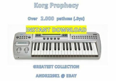Korg Prophecy - Over +2.000 Patches (.Syx) - INSTANT D0WNLOAD LINK
