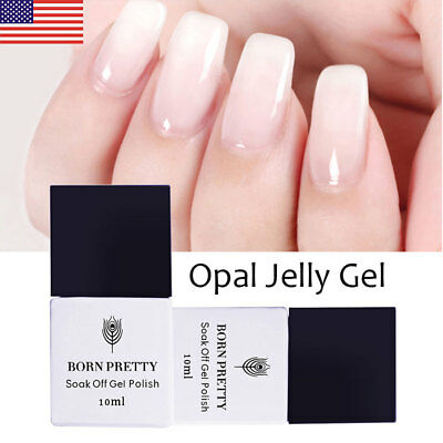 10ml BORN PRETTY Opal Jelly Gel White Soak Off UV/LED Gel Nails  Salon