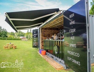 Mobile outdoor shipping container bar - weddings, parties,festivals etc BAR HIRE