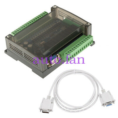 New PLC FX3U-24MR Industrial Control Board Programmable Logic Controller+ Cable