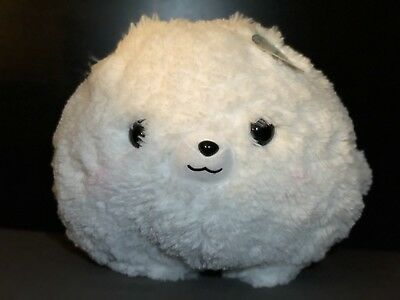 Fuwa Mofu Pometan White Pomeranian Pup 16 Plush Amuse New Wtags