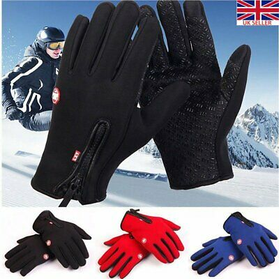 Winter Warm Windproof Waterproof Anti-slip Thermal Touch Screen Gloves Unisex UK