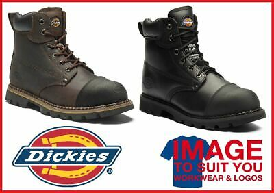 New Mens Dickies Crawford Leather Work Safety Steel Toe Cap & Midsole Boots