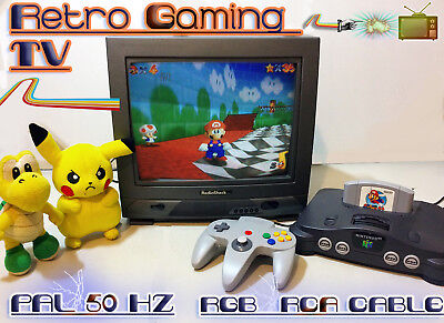 Retro Gaming CRT TV Television - PAL 50Hz - RGB SCART, RCA - Lagless Speedrun