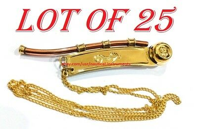 Nautical Solid Brass Copper Boatswain Forzing (Bosun's) Whistle