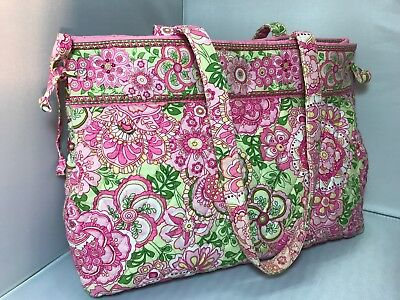"""Vera Bradley """"Petal Pink"""" Side Tie Tote. Pre-loved; Excellent Condition. Lovely!"""
