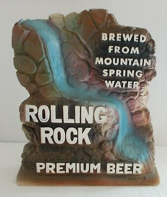 ROLLING ROCK Beer Chalk Brewed from Spring Mountain Water Falls Sign Latrobe Pa