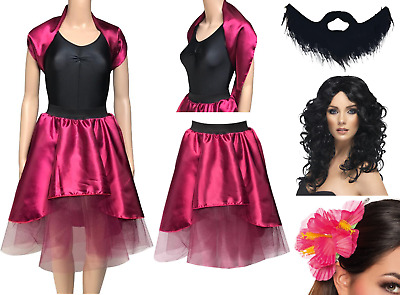 Adult The Greatest Showman Bearded Lady Costume Skirt And Wrap This