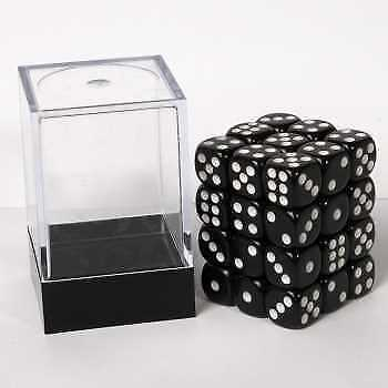 Blackfire Dice Cube - D6 36 Dice Set Opaque Black, 12mm