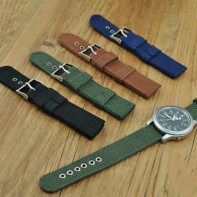 18-24mm Military Army Nylon Watchband Woven Nylon Watch Strap Correa de reloj