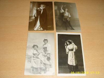 Vintage Collection - People  In Fancy Dress Costume - Old Photo Postcards