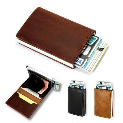 Anti-theft Wallet RFID Blocking Genuine Leather Cash Card Holder FREE SHIPPING!!