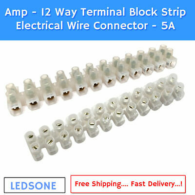 Electrical Connectors Wire Block Clamp Terminal Cable 12V 240V Reusable 2/3/5 UK