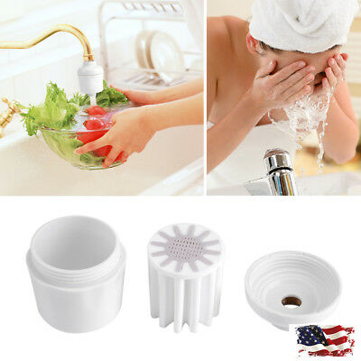 Bathroom In-Line Shower Head Filter Water Softener Purifier Chlorine Remover US