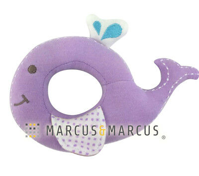 Organic Cotton Rattle by Marcus & Marcus - Willo the Whale