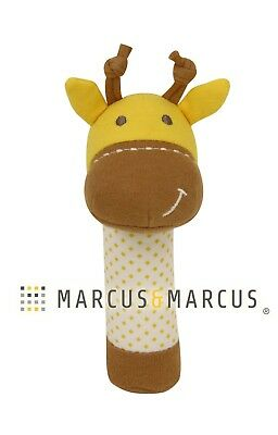 Organic Cotton Rattle by Marcus & Marcus - Lola the Giraffe