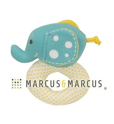 Organic Cotton Rattle by Marcus & Marcus - Ollie the Elephant
