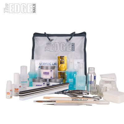 The Edge NAILS Full Acrylic Liquid and Powder Starter Kit False Tips Student Kit