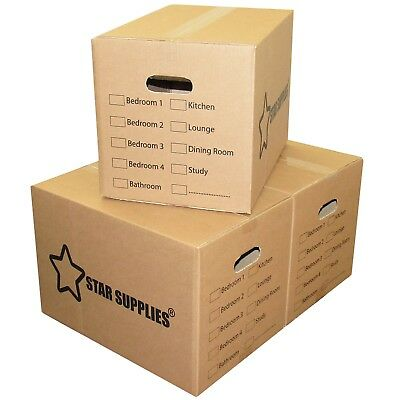 15 x Premium Large Double Wall Cardboard Boxes Moving/Packing Storage Boxes NEW