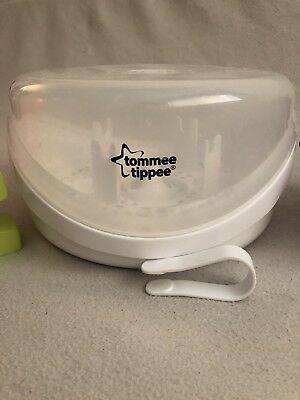 NEW-Tommee Tippee-Closer to Nature-Microwave Steam Sterilizer/Bottle Cleaner