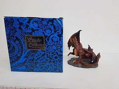Brown Dragon Statue 17cm Veronese Design Studio Collection Fantasy - NEW RARE!