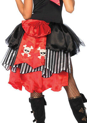 Leg Avenue Pin-On Pirate Bustle Skull and Crossbones Bow Back Costume Accessory