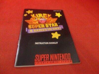 Kirby Superstar Super Nintendo SNES Instruction Manual Booklet ONLY #D1