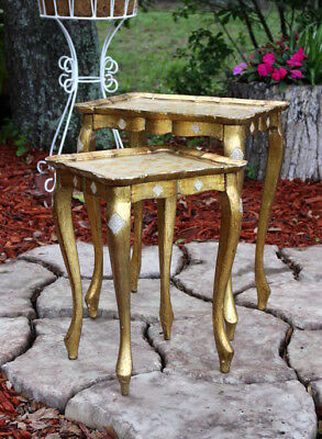 Vintage Italian Nesting Tables Made in Italy Set of Two
