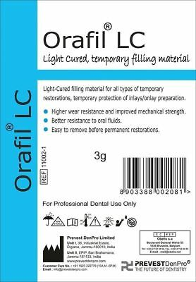 Orafil LC 3gm Light Cure Temporary Filling Material Dental Prevest Free Ship