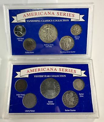 1892-1943 Americana Series, US Silver Coins Cent- Half Dollar 10 Different Coins