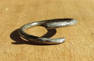 Scythian-Sarmatia Silver 1 Old Ring - Temporal 7-3 th Century BC 2.2 grams