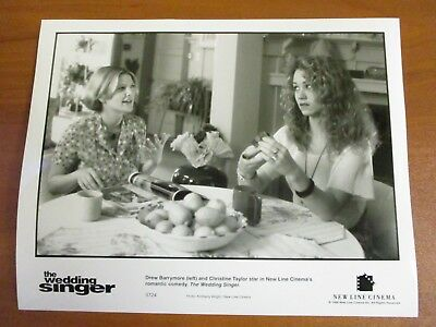 Vtg Glossy Press Photo Drew Barrymore & Christine Taylor The Wedding Singer 1998