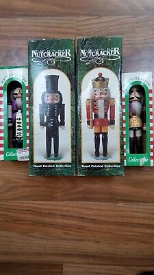 W.O.O.D Nutcracker Hand Painted Collectible Set (4x)
