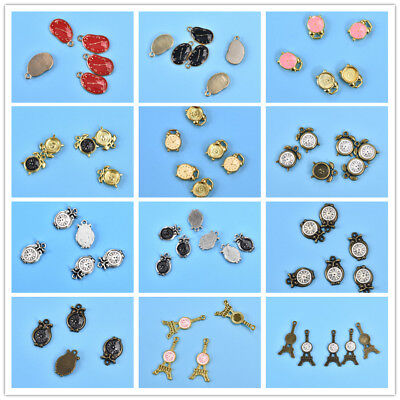 Colorful Oil Drop Clock Pendents 10Pcs/13pcs Charms DIY Jewelry Necklace Making