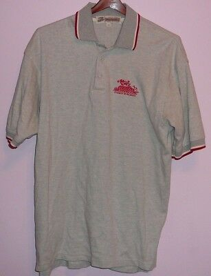 Vintage 80s Steamer Paddle Boat Delta Queen 50 50 Polo Shirt Gray L 31d976d46