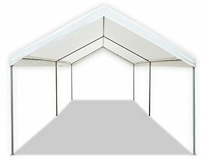 STEEL FRAME 10X20 Party Tent Canopy Portable Car Carport Shelter ...