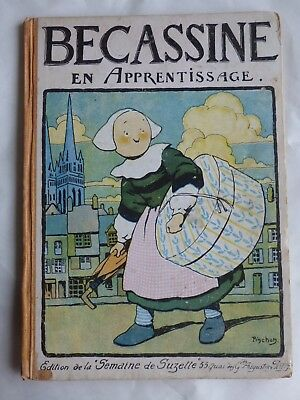 Becassine En Apprentissage  E.o 1919  Rare  ( Plomo )  Dos Orange