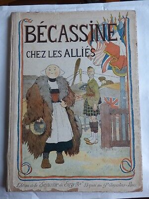 Becassine Chez Les Allies Reed 1917 Rare Tbe ( Plomo )
