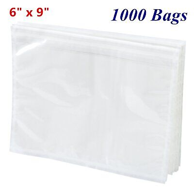 1000pcs 6x9 Clear Packing List Invoice Pouch Shipping Enclosed Envelope Adhesive