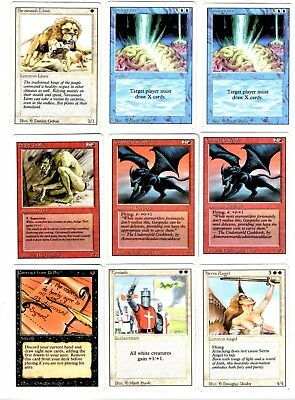 """Magic The Gathering Revised Edition set (E) of 9 Cards """"2019 Sale"""""""
