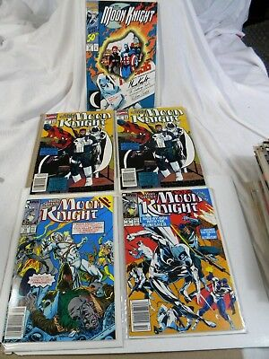 Marc Spector MOON KNIGHT  lot of 5: # 9, 10, 21,21, & Giant Sized #50  Marvel VF